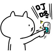 Intense Cat Sticker for LINE & WhatsApp | ZIP: GIF & PNG
