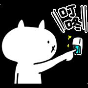 Intense Cat Sticker for LINE & WhatsApp | ZIP: GIF & PNG