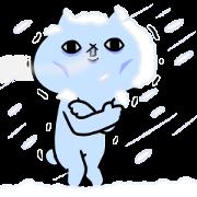 Intense Cat Part 12 Sticker for LINE & WhatsApp | ZIP: GIF & PNG
