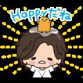Free Jin × gudetama Animated Stickers LINE sticker for WhatsApp