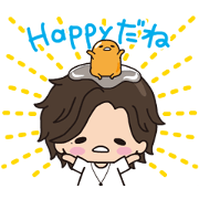 Free Jin × gudetama Animated Stickers LINE sticker for WhatsApp