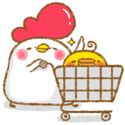 LINE Official Select × bibi popcorn Sticker for LINE & WhatsApp | ZIP: GIF & PNG