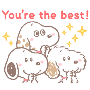 Free Lovely Snoopy and Friends LINE sticker for WhatsApp