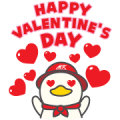 Free MK Happy Duck 3 LINE sticker for WhatsApp