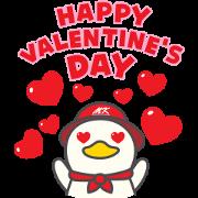 Free MK Happy Duck 3 LINE sticker for WhatsApp