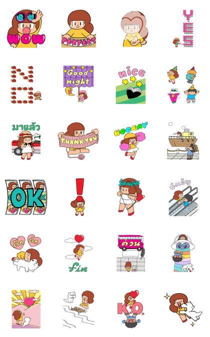 Download Mamuang Pop-Ups Sticker LINE and use on WhatsApp