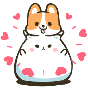Free Mountain & Stoppy Valentine's Day LINE sticker for WhatsApp