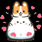 Free Mountain & Stoppy Valentine's Day LINE sticker for WhatsApp