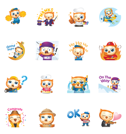 Owy's A+ World Line Sticker GIF & PNG Pack: Animated & Transparent No Background | WhatsApp Sticker
