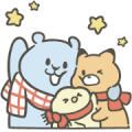 Free Pcone × Little Popcorn 16 Stickers LINE sticker for WhatsApp
