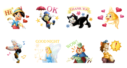 Download Pinocchio (Special Event) Sticker LINE and use on WhatsApp