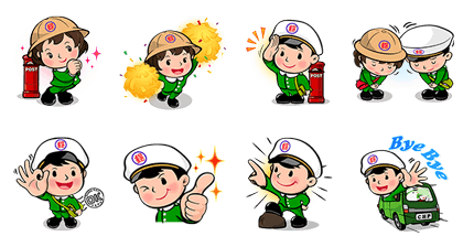 Postal Baby Doll - 3551 Line Sticker GIF & PNG Pack: Animated & Transparent No Background | WhatsApp Sticker