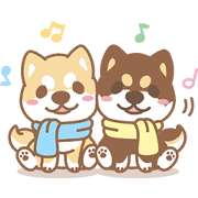 Free Shiba Inu Chai Chai: Males Gerak LINE sticker for WhatsApp