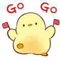 Soft and cute chick2 (animation) Sticker for LINE & WhatsApp | ZIP: GIF & PNG