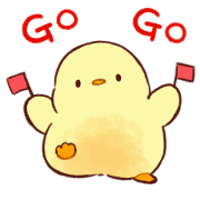 Free Soft and Cute Chick 2 (Animation) LINE sticker for WhatsApp