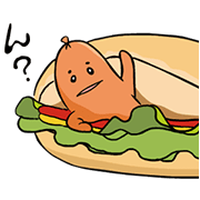 Free Soppurin the Sausage LINE sticker for WhatsApp