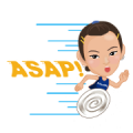 Free Speak English with Tai Tzu Ying LINE sticker for WhatsApp