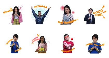 Download Terlalu Tampan Movie Sticker LINE and use on WhatsApp