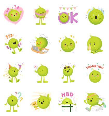 Download The Mood of Aunjai Sticker LINE and use on WhatsApp