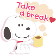 Free Thoughtful Snoopy Stickers LINE sticker for WhatsApp