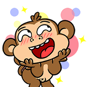 Free What The Monkey LINE sticker for WhatsApp