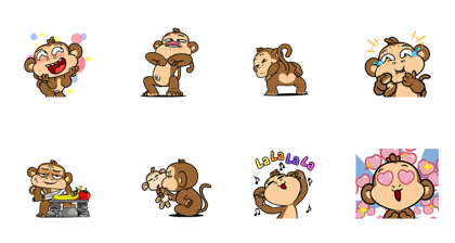 Download What The Monkey Sticker LINE and use on WhatsApp