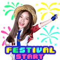 BNK48: BNK Festival Sticker for LINE & WhatsApp | ZIP: GIF & PNG