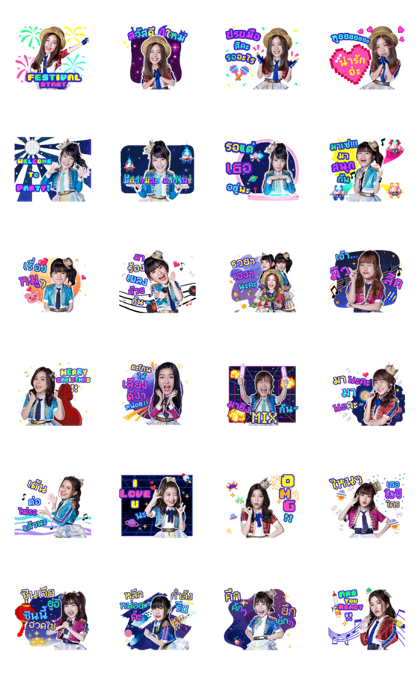 BNK48: BNK Festival Line Sticker GIF & PNG Pack: Animated & Transparent No Background | WhatsApp Sticker