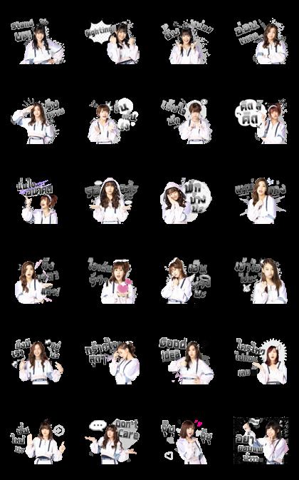 BNK48: Beginner Line Sticker GIF & PNG Pack: Animated & Transparent No Background   WhatsApp Sticker