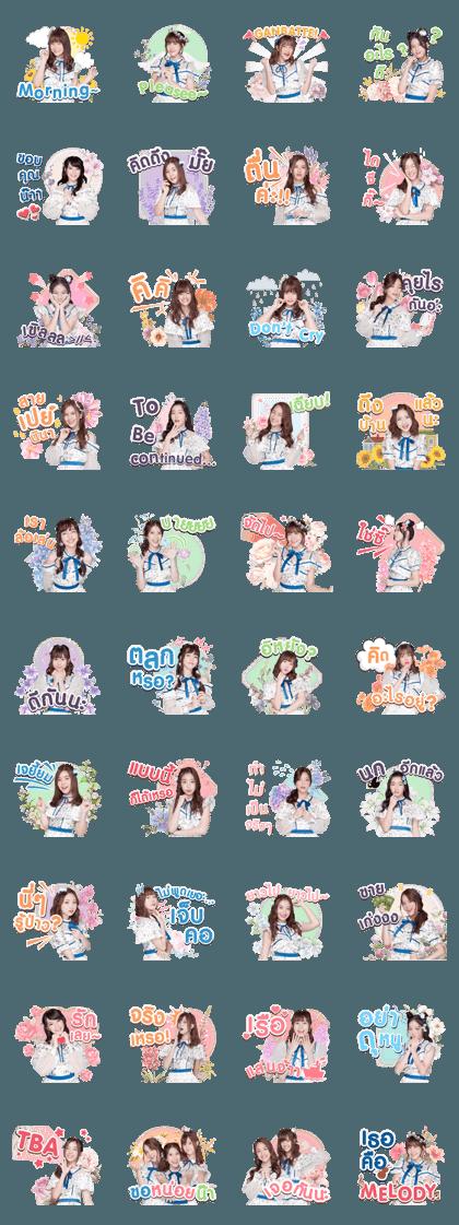 BNK48 : Kimi wa Melody เธอคือ…เมโลดี้ Line Sticker GIF & PNG Pack: Animated & Transparent No Background | WhatsApp Sticker