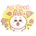 BROWN & FRIENDS warm and sweet watercolor Sticker for LINE & WhatsApp | ZIP: GIF & PNG