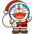 Doraemon Christmas & New Year Sticker for LINE & WhatsApp | ZIP: GIF & PNG