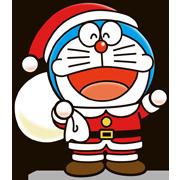 Doraemon Christmas & New Year Sticker for LINE & WhatsApp   ZIP: GIF & PNG