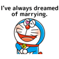 Doraemon: Moving Love Quotes! Sticker for LINE & WhatsApp | ZIP: GIF & PNG