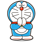Doraemon in Thailand Sticker for LINE & WhatsApp | ZIP: GIF & PNG