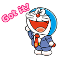 Doraemon on the Job Sticker for LINE & WhatsApp | ZIP: GIF & PNG