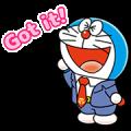 Doraemon on the Job Sticker for LINE & WhatsApp | ZIP: GIF & PNG