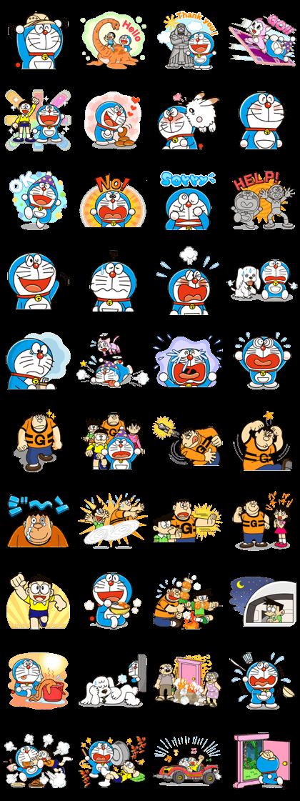 Doraemon the Adventure Line Sticker GIF & PNG Pack: Animated & Transparent No Background | WhatsApp Sticker