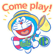 Doraemon's Moving Summer Vacation Sticker for LINE & WhatsApp | ZIP: GIF & PNG