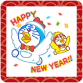 Doraemon's New Year's Gift Stickers