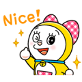 Dorami on the Move Sticker for LINE & WhatsApp | ZIP: GIF & PNG