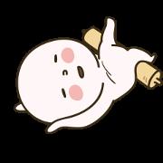 Dough Banjuk 2 Sticker for LINE & WhatsApp | ZIP: GIF & PNG