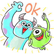 Easygoing Monsters, Inc. ♪ Sticker for LINE & WhatsApp   ZIP: GIF & PNG