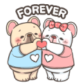 French Bulldog PIGU-Animated Sticker I Sticker for LINE & WhatsApp | ZIP: GIF & PNG