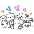 Hi! We Are PANDORA Friends Sticker for LINE & WhatsApp | ZIP: GIF & PNG