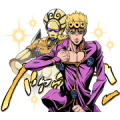JOJO Part5 Gold Experience Sticker for LINE & WhatsApp | ZIP: GIF & PNG