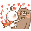 LINE Giftshop × Super Bunny Sticker for LINE & WhatsApp | ZIP: GIF & PNG