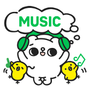 LINE MUSIC × Song Song Meow: MUSIC! Sticker for LINE & WhatsApp | ZIP: GIF & PNG