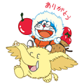 LINE PokoPoko & Doraemon the Movie 2017 Sticker for LINE & WhatsApp | ZIP: GIF & PNG