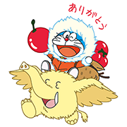 LINE PokoPoko & Doraemon the Movie 2017 Sticker for LINE & WhatsApp | ZIP: GIF & PNG